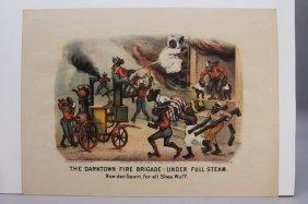 9 Currier & Ives: The Darktown Fire Brigade.