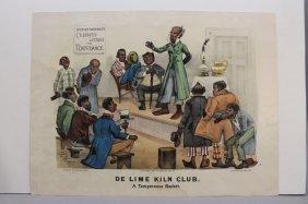 Currier & Ives, De Lime Kiln Club. (1883).