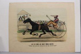 2 Currier & Ives: Jay Eye Sore + Mud S. (1885).