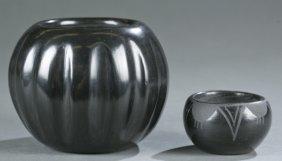 2 Santa Clara Pots, One By Dolorita Gutierrez.