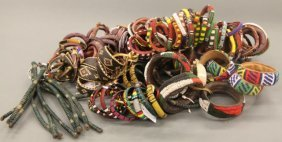 A Large Group Of African Bracelets.