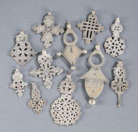Group Of African Metal Crosses.