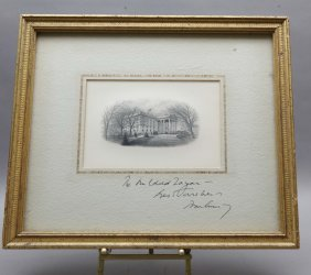 John F. Kennedy: Signed Inscription, White House