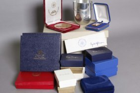 17 Items: Presidential Cups, Cufflinks, Pen