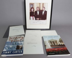 7 Items: 4 Signed By Pres. Carter & Mrs. Carter