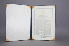 Gerald Ford Signed Inauguration Speech Broadside.