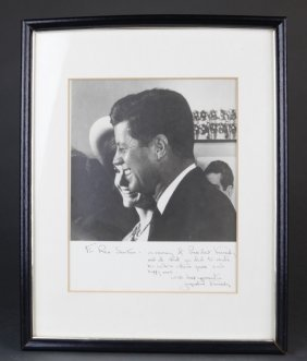 Photo Signed, Inscribed By Jacqueline Kennedy.