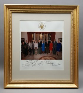 Photograph Signed By 5 Presidents, 6 First Ladies