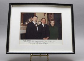 Ronald And Nancy Reagan: Signed Photograph.