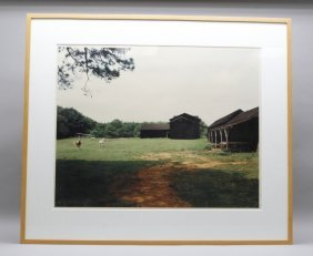 """Christenberry, """"horses And Black Buildings"""" 1978"""
