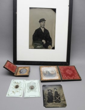6 Photographs (5 Tintypes, 1 Ambrotype).