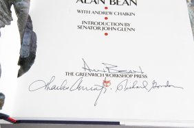 2 Books Sgd By Alan Bean, 1 Sgd W/ Conrad + Gordon