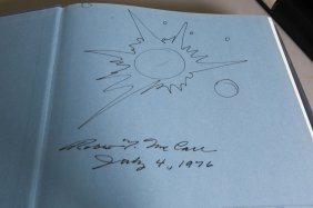 4 Space Books 2 Signed W/ Drawing By Robert Mccall