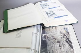 Over 151 Items: 4 Vols/binders: Space Stamps/fdcs.