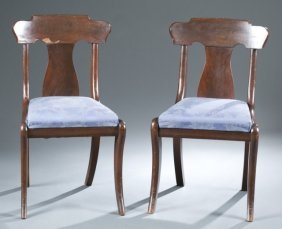 Pair Of American Empire Chairs.