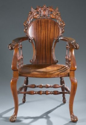 Renaissance Revival Carved Wooden Chair.