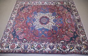 Large Semi-antique Wool Rug.