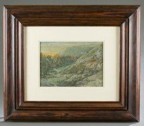 William L. Sonntag Sr. Landscape Watercolor