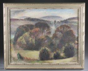 Theodore Gilbert Haupt, Landscape O/c, 20th C.