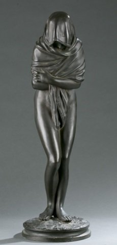 "After Jean Antoine Houdon, ""winter"", Signed Rene."