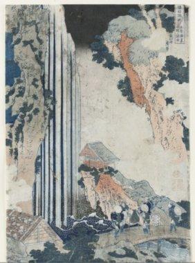 Japanese Woodblock Print, Hokusai.