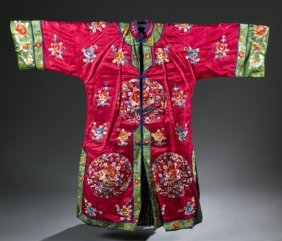 Group Of 2 Chinese Embroidery Costumes.
