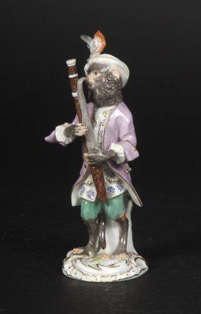 Affenkapelle Einzelfigur: Der Fagottspieler.