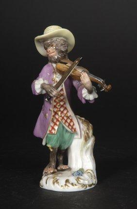 Affenkapelle Einzelfigur: Der Violonist.