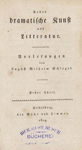 Schlegel, August Wilhelm Ueber Dramatische Kunst Und
