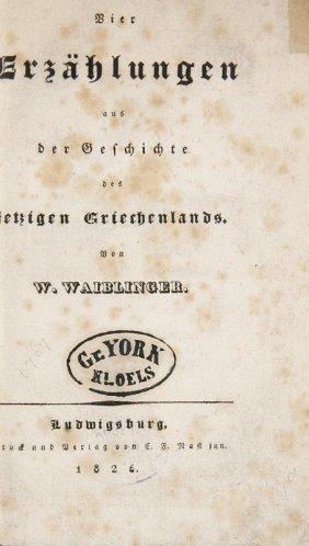 Waiblinger, Wilhelm Vier Erzählungen Aus Der Geschichte