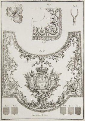 Saint-aubin, Charles Germain De L'art Du Brodéur. Mit