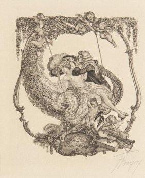 Bayros, Franz Von (pseud.: Coisy Le Conin) Ex-libris.