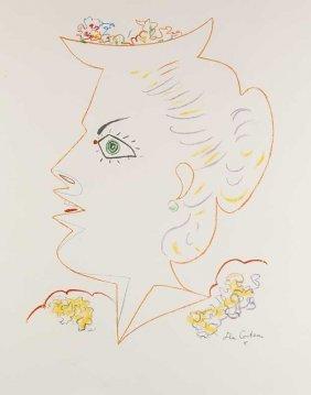 Cocteau, Jean Dame Im Profil (femme En Profil).