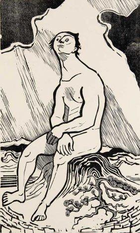 Marcks, Gerhard Odysseus. Holzschnitt Auf Btten. 34 X