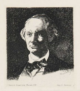 Manet, Edouard Portrait Charles Baudelaire, De Face.