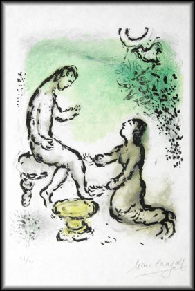 Marc Chagall - Odyssey II . Ulysses And Euryclea
