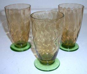 Set Of 3 Steuben Juices