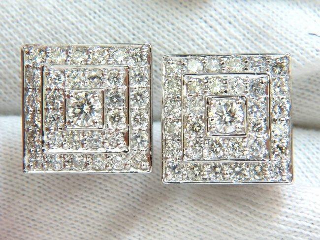 art deco cluster square clip earrings bead set lot 91. Black Bedroom Furniture Sets. Home Design Ideas