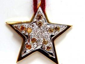 .50ct White & Fancy Yellow Diamond Pendant Rockstar 2d