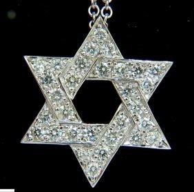 3.01ct Round Diamond Star Pendant Bead Set 14kt G Vs +