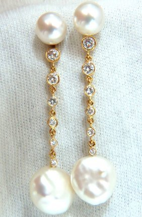 .80ct Diamonds South Sea White Pearl Studs & Jacket