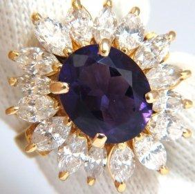 7.25ct Natural Purple Amethyst Cucktail Cluster Diamond