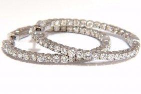 2.72ct Natural Diamonds Inside Out Hoop Earrings 14kt