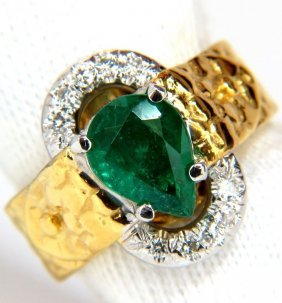 18kt 1.90ct Natural Emerald Diamond Ring Scaling