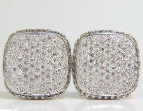 2.50ct Square Cluster Graver Bead Set Diamond Clip