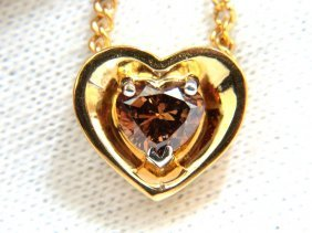 .78ct Natural Pure Vivid Brown Heart Cut Diamond