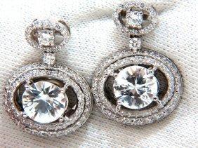 10.90ct Natural Zircon Diamonds Dangle Drop Earrings