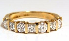 1.40ct Diamonds Princess Rounds Channel Band 14kt G.vs