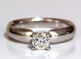 Gia Certified .51ct Round Cut Diamond Solitaire Ring