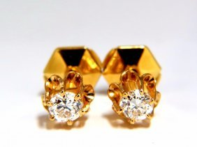 .50ct Natural Round Single Cut Diamond Stud Earrings